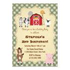 Rustic Farm Animal Birthday Party Invitation