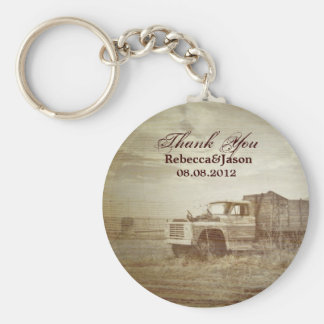 Rustic Farm Truck Western Country Wedding favor Key Ring