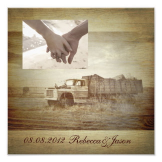 Rustic Farm Truck Western Country Wedding Photo Print