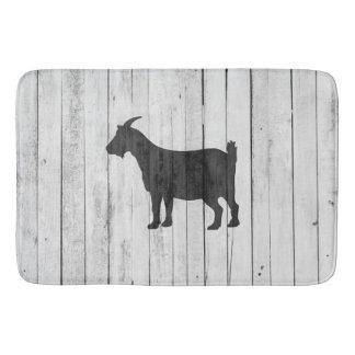Rustic Farmhouse Goat Wood Panel Bath Mat