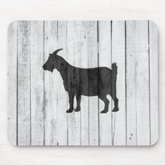 Rustic Farmhouse Goat Wood Panel Mouse Pad