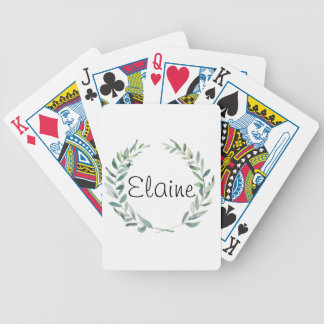 Rustic Farmhouse Watercolor Magnolia Wreath Design Bicycle Playing Cards