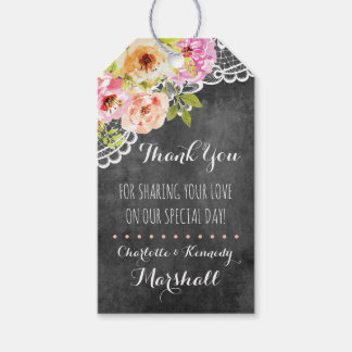 Rustic Farmhouse Wedding Roses & Lace Thank You