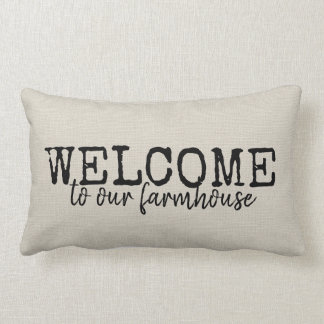 Rustic Farmhouse Welcome Throw Pillow