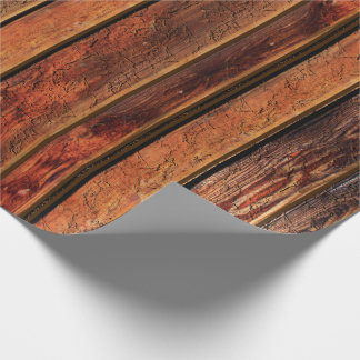 Rustic Faux Vintage Wood Wrapping Paper