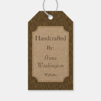 Rustic Faux Wood Handcrafted Artist Gift Tag
