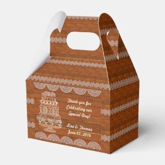 Rustic Faux Wood Wedding Favor Box (Customize it!)