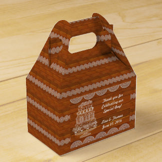 Rustic Faux Wood Wedding Favour Box (Customise