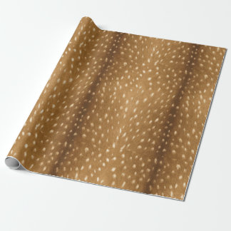 Rustic Fawn Spotted Deer Fur Wrapping Paper