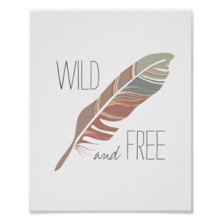 Rustic Feather | Wild and Free Nursery Wall Art