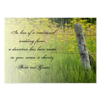 Rustic Fence Post Country Wedding Charity Favor Pack Of Chubby Business Cards