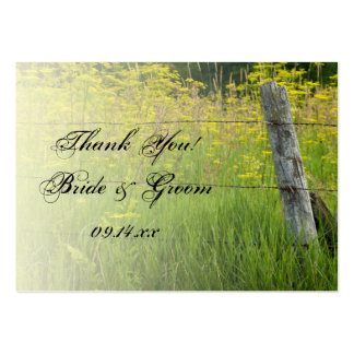 Rustic Fence Post Country Wedding Favor Tags Business Card