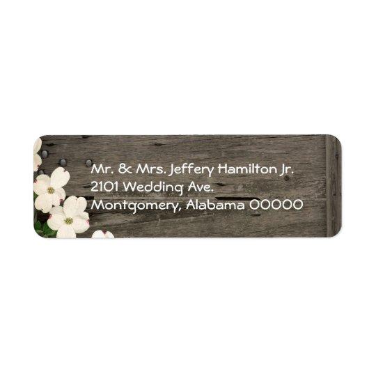 Rustic Fence Wedding Return Address Labels