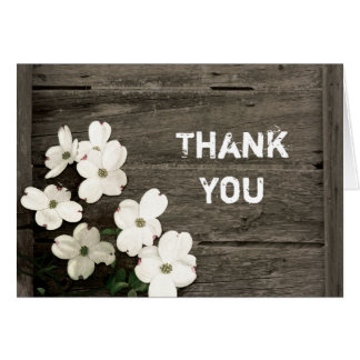 Rustic Fence Wedding Thank You Card