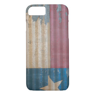 Rustic Fflaking Old Texas Lone Star Flag iPhone 7 Case