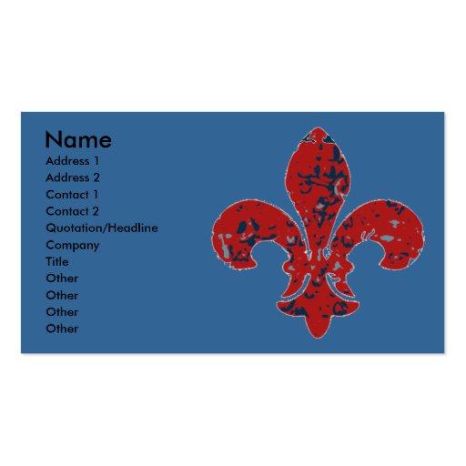 Rustic Fleur De Lis Business Card Templates