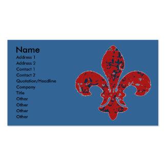 Rustic Fleur De Lis Pack Of Standard Business Cards