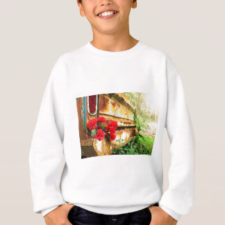 Rustic Floral and Farm Truck Sweatshirt