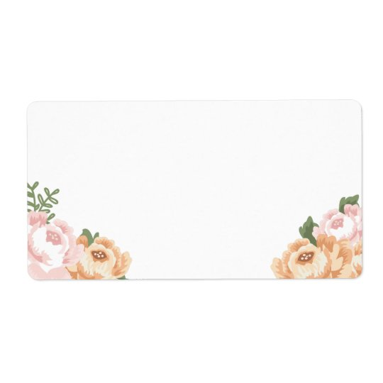 Rustic Floral Blank Large Address Labels