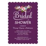 Rustic Floral Bouquet Bridal Shower - Purple Personalized Invite