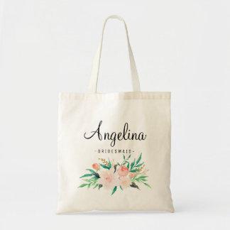 Rustic Floral Bridesmaid Personalized-06 Tote Bag