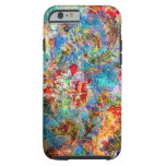 Rustic Floral Grunge Collage Tough iPhone 6 Case