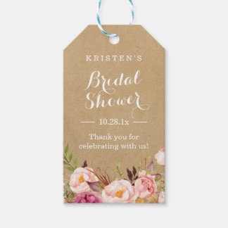 Rustic Floral Kraft | Bridal Shower Thank You