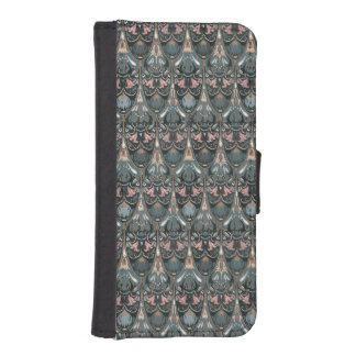 Rustic floral luxury squama military color pattern iPhone SE/5/5s wallet case