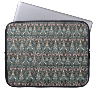 Rustic floral luxury squama military color pattern laptop sleeve