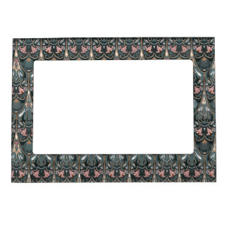 Rustic floral luxury squama military color pattern magnetic picture frame