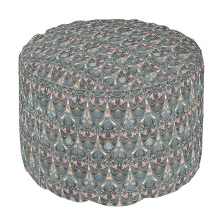 Rustic floral luxury squama military color pattern pouf