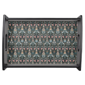Rustic floral luxury squama military color pattern serving tray
