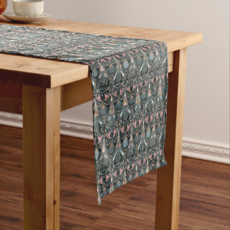 Rustic floral luxury squama military color pattern short table runner