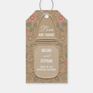 Rustic Floral Mason Jar Wedding