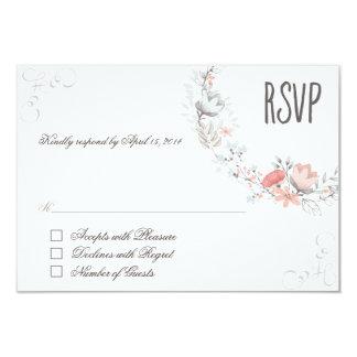 Rustic Floral RSVP 9 Cm X 13 Cm Invitation Card