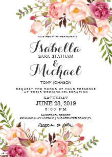 floral wedding invitations zazzle com au