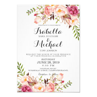 Wedding invitations announcements zazzle au rustic floral wedding invitation stopboris Images
