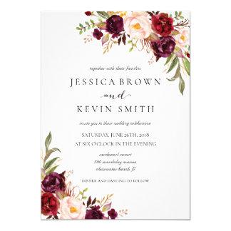Rustic Floral Wedding Invitation-03 Card