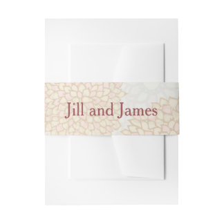 Rustic Floral Wedding Invitation Belly Band