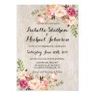 Rustic Floral Wedding Invitation/Watercolor bg-2 Card