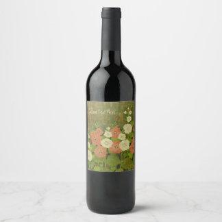 Rustic Floral Wine Label