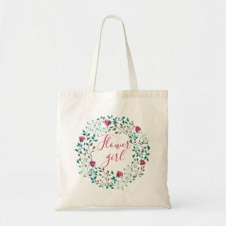 Rustic Floral Wreath   Flower girl   Wedding Tote Bag