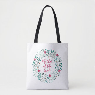 Rustic Floral Wreath   Mother of the Bride Wedding Tote Bag