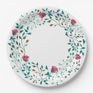 Rustic Floral Wreath | Wedding Paper Plate