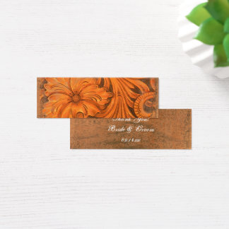 Rustic Flower Country Wedding Favor Tags