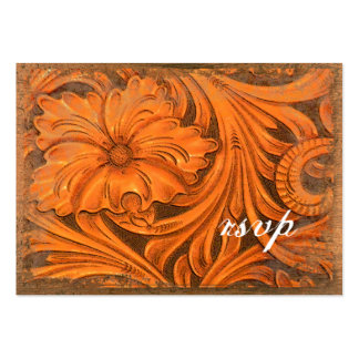 Rustic Flower Country Wedding RSVP Response Card Pack Of Chubby Business Cards