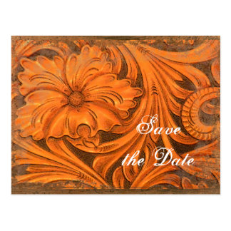 Rustic Flower Country Western Save the Date Postcard