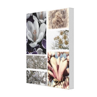 Rustic Flower Photography Collage Canvas Print
