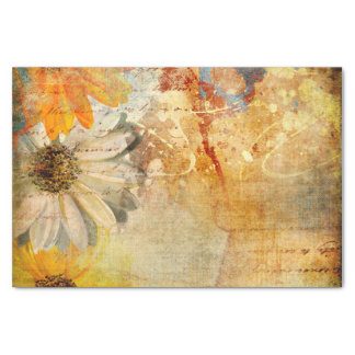 Rustic Flower Shabby Chic Tissue Paper