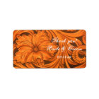 Rustic Flower Western Wedding Thank You Favour Label